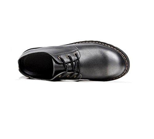 zmlsc Casual Hommes Chaussures en Cuir d'affaires Ronde Souple Point Point Ruban Saison Couleur Toile Sport Sandales Bottes Brown 6aQXZY1TMw