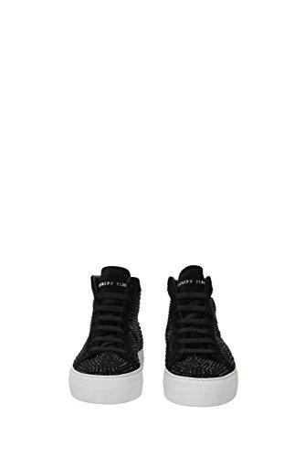 WSC0413PLE009N Philipp Femme EU Noir Suède Sneakers Plein FFz4cCf