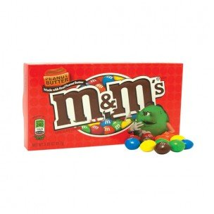 M&M PEANUT BUTTER THEATER BOX 3.2 OUNCES 12 COUNT by Peanut Butter