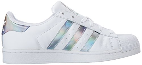 adidas Kids' Superstar J Sneaker, White/White/Gold Metallic, 4.5 M US Big Kid by adidas (Image #7)