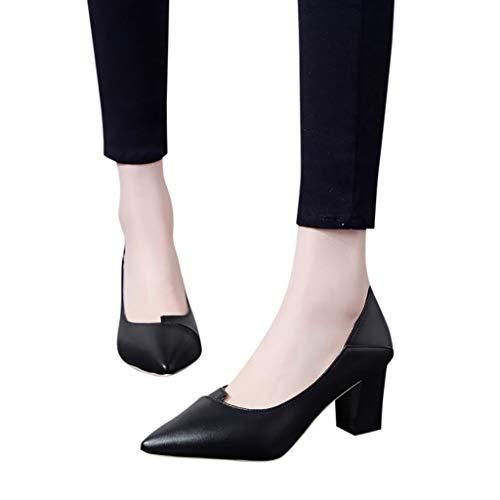 La Hauts Avec Chaussures Épaisse Bessky Talons Des Dames De Mode Pointues À qYPtYw