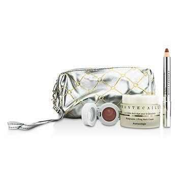 Skin Care Set: Neck Cream 50ml + Lip Potion 4.5g + Contour Fill 2.5g + Bag 3pcs+1bag by Chantecaille (Image #1)