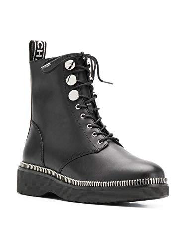 Michael By Michael Kors Mujer 40R9TVFE7L001 Negro Cuero Botines: Amazon.es: Zapatos y complementos
