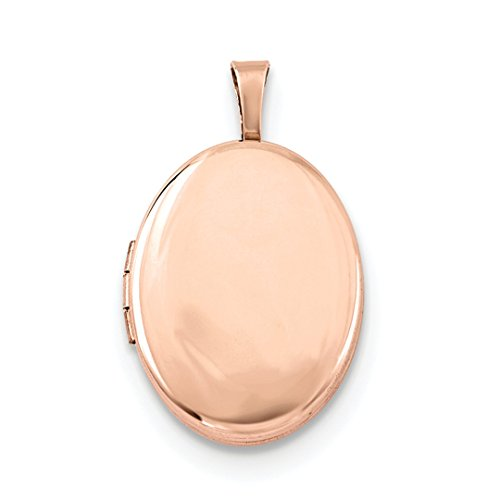 ICE CARATS 925 Sterling Silver Rose Gold Plated 20mm Oval Photo Pendant Charm Locket Chain Necklace That Holds Pictures Fine Jewelry Ideal Mothers Day Gifts For Mom Women Gift Set From Heart (Gold Plated Oval Locket)