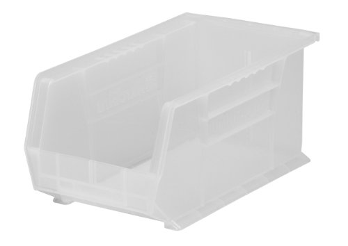 Akro-Mils 30234 Plastic Storage Stacking AkroBin, 15-Inch by 5-Inch by 5-Inch, Clear, Case of ()