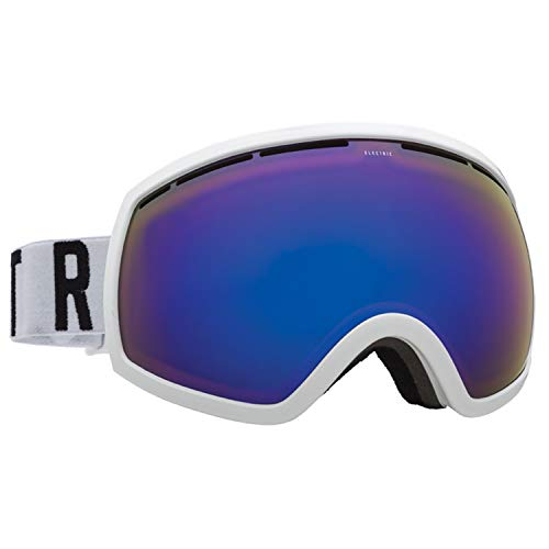 - Electric Eyewear Men's EG2 Gloss White/Woodmark/Brose/Blue Chrome Goggles