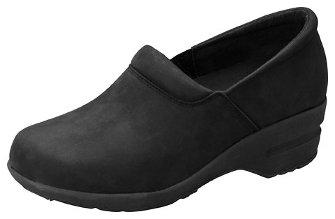 Cherokee Uniforms New Patricia Women's Step In Lightweight Shoes Black Oil Leather Size 6 M (Cherokee Lightweight Clog)