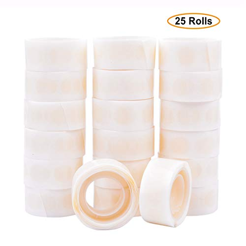 GCOA Balloon Glue 2500 PCS (25 Rolls) Double Sided Dots of Glue Craft Removable Adhesive Point Tape Non-Liquid Glue for Scrapbook,Party,Wedding,Balloons Decoration -