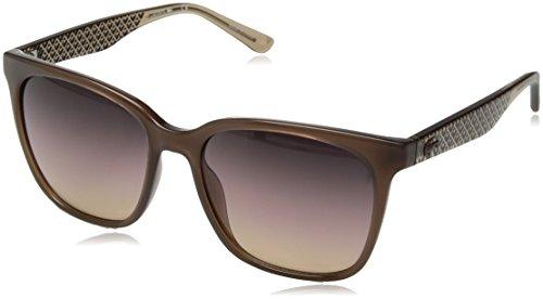 Óculos Lacoste L861S 210 Marrom Nude Estampado Lente Marrom Flash Degradê Tam 55