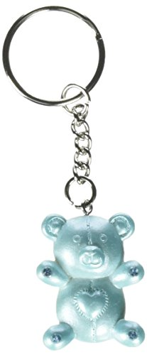 Bear Design Keychains - Fashioncraft Blue Teddy Bear Design Favor Saver Key Chains