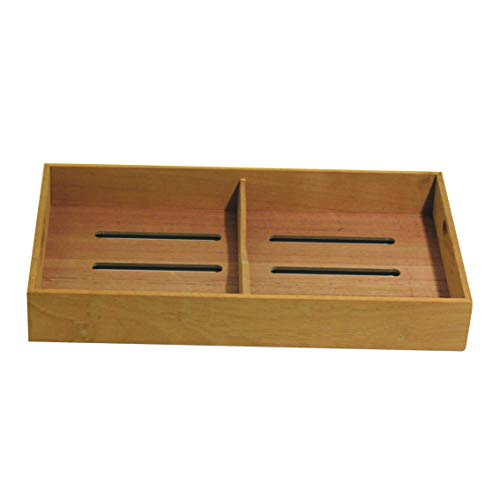 Sigara Brand Solid Spanish Cedar Cigar Tray with One Adjustable Divider, Fits Large Humidor 12.0