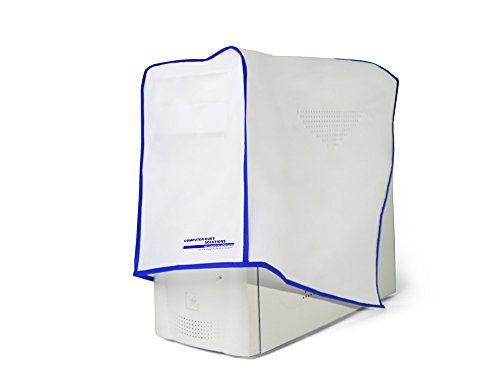 Dust and water resistant silky smooth antistatic vinyl computer CPU dust cover (8W x18H x19D)