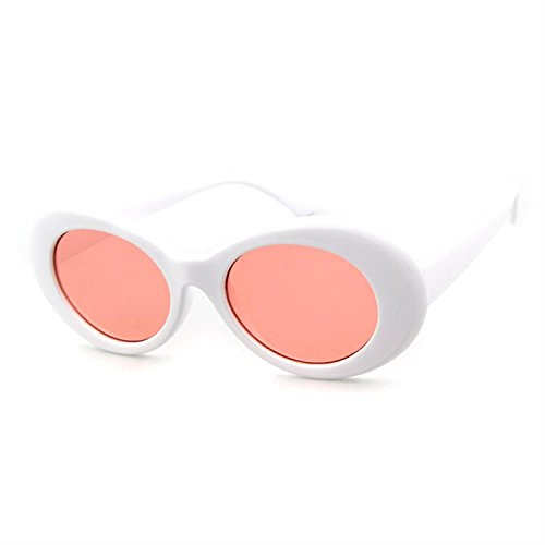 90f28cbf32 Clout Goggles Oval Sunglasses Mod Style Retro Thick Frame Kurt Cobain  Inspired Sunglasses With Round Lens