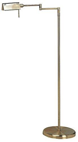 Lite Source LS-960AB Pharma Halogen Floor Lamp, Antique ()