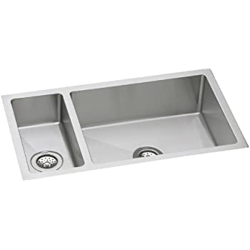 Elkay Crosstown EFRU3219 30/70 Double Bowl Undermount Stainless Steel Sink