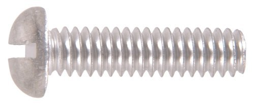 The Hillman Group 1125 Aluminum Round Head Slotted Machine Screw 6-32 x 3/4 In. 40-Pack (2)