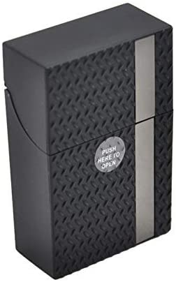 SUJING Plástico Caja Cigarrillos Paquete Soportes Azúcar Calavera Estampado Cigarrillo Caja Protector - Negro: Amazon.es: Hogar
