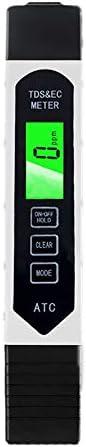 Cratone TDS Wasserqualität Tester Leitwertmessgerät mit Thermometer Digital 0-9990ppm Messbereich Meter mit LCD Display Professionell für Trinkwasser Schwimmbad