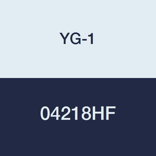 1-3//4 4-1//2 Length 3//4 Shank Regular Length 6 Flute TiAlN-Futura Finish YG-1 04218HF HSS End Mill