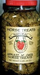 RJ Matthews All Natural Horse Treats, Applezz N Oats, 3 Pound Bag by RJ matthews (Image #1)