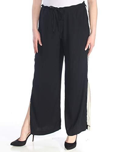INC International Concepts Striped Wide-Leg Pants (Deep Black, XL) from INC International Concepts