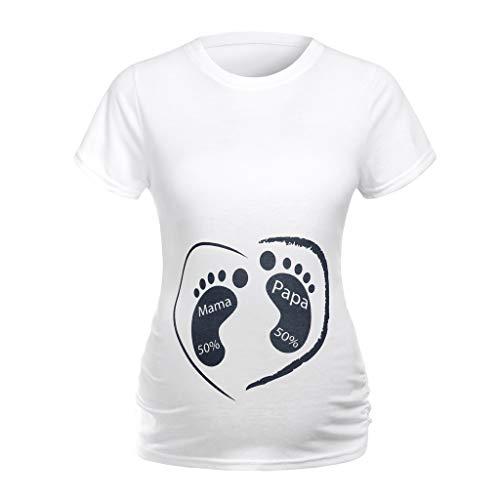 Keliay Maternity Tops,Women Maternity Short Sleeve Cartoon Print Tops T-Shirt Pregnancy Clothes