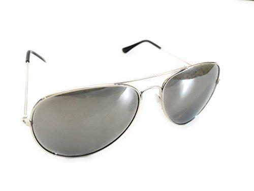 Classic Aviator Sunglasses with Silver Mirror - Of Sunglasses Aviator Price