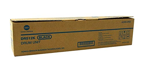 - Konica Minolta DR-512K 120K Page Yield Black Drum Unit for Bizhub C364 C454 C554 A2XN0RD