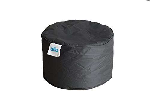 """Alta Footstool Bean Bag Ottoman (COVER ONLY) Made Stain and Water Resistant to Help Rest Your Feet and Legs, 13.7"""" x 21.6"""" Black by Alta"""