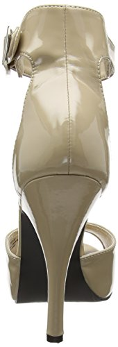 Pleaser Pink Label Eve-02, Sandales Plateforme Femme, Red Beige (Cream Pat Crpt)