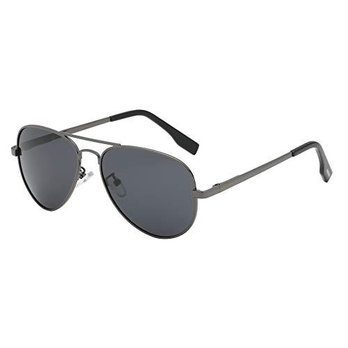 (BEEAN Polarized Sunglasses Classic Stylish Aviator Sun Glasses for Women Men, Grey, Black)