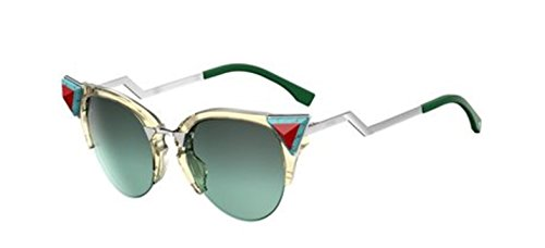 New Fendi IRIDIA FF 0041/S Iridia C1E/EQ Yellow Green/Green Aqua Sunglasses