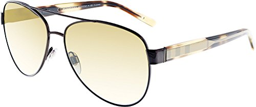 Burberry BE3084 1226T5 Brushed Brown BE3084 Aviator Sunglasses Polarised Lens - Burberry Unisex Sunglasses