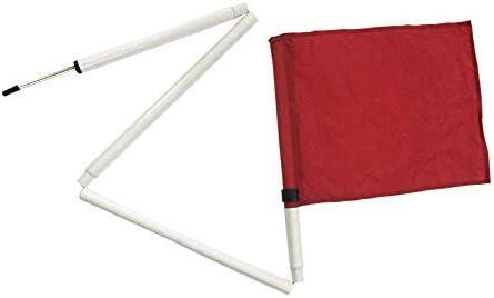 Kosma Juego 4 Bandera de Esquina abatibles con con Bolsa de Transporte| Esquina de Entrenamiento de fútbol con Banderas Plegables Poste | Color Rojo | Tamaño 5 pies x 25 mm: Amazon.es: