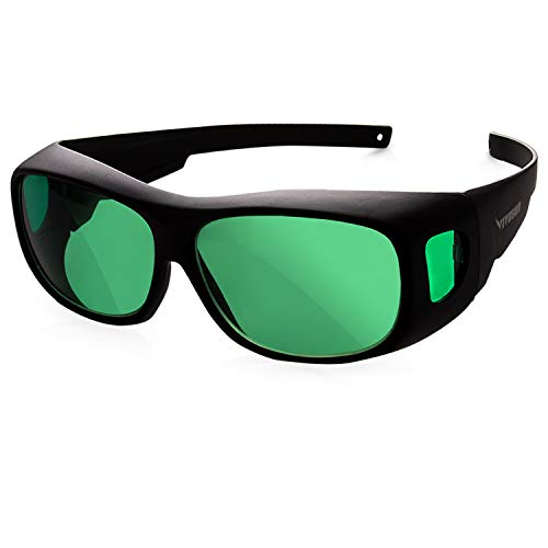 VIVOSUN Indoor Hydroponics LED Grow Room Glasses with Glasses Case]()