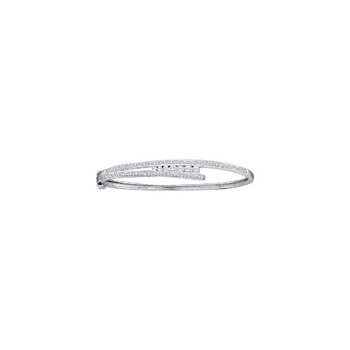1 Total Carat Weight DIAMOND LADIES JOURNEY BANGLE by Jawa Fashion
