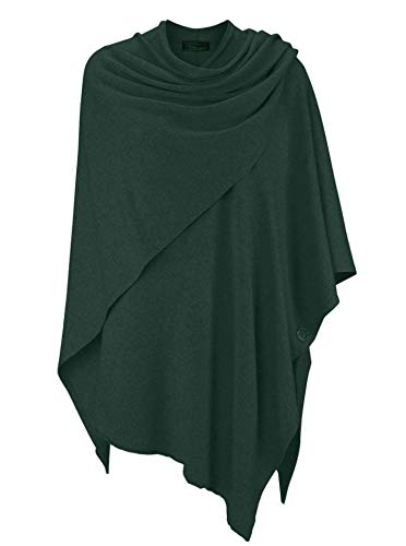 Zwillingsherz Cashmere Dreams Poncho-sjaal met kasjmier – hoogwaardige cape voor dames – XXL omslagdoek en tuniek met…
