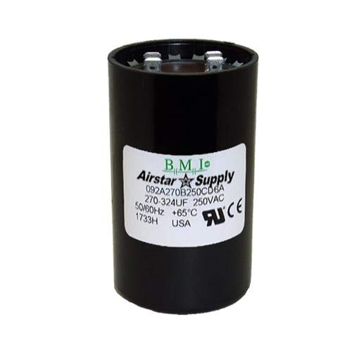 BMI//USA Start Capacitor # 092A270B250CD6A with Bleed Resistor 270-324 uF x 220 250 VAC
