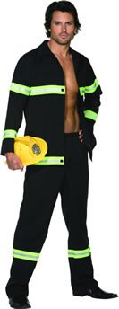 Fireman Adult Costume - Medium