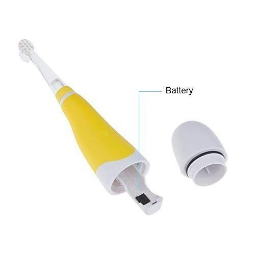 ALLOMN Oral Care Baby Sonic Elektrische Zahnb/ürste Mit 2 B/ürstenk/öpfen Weiche Borsten LED-Leuchten Finger-Zahnb/ürste Color : Yellow Kids Baby Zahnb/ürste