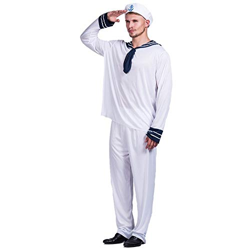 Captain Falcon Brawl Costumes - NQBRNG Men Sailor Crew Seaman Captain