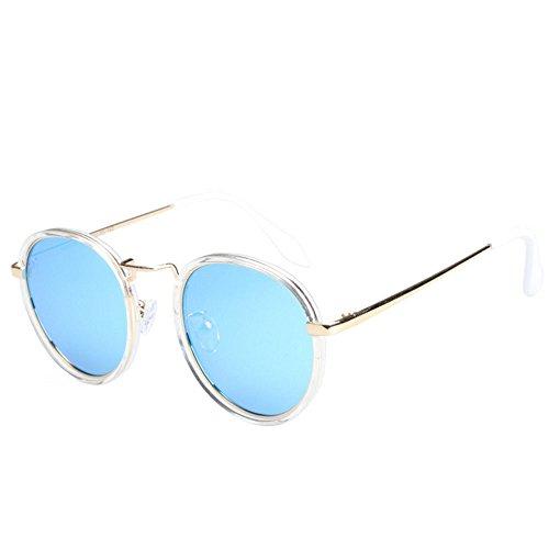 Élégant air en cadre lunettes blue rond Mme plein protection métal de Uv400 polarisé hommes et soleil en ZRZrqEw