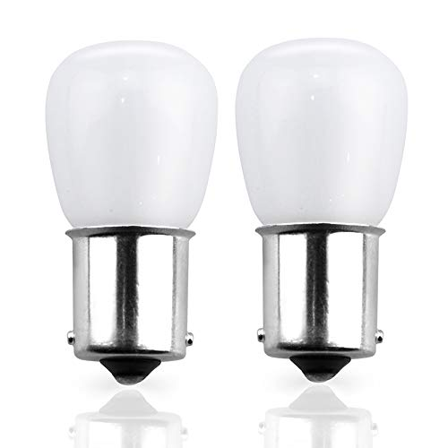 (Lustaled AC/DC 12V LED 1156 Vanity Light Bulb 2W BA15S Single Contact Bayonet Base LED Bulbs 1141/1156 Vanity Replacement for Interior RV Camper Trailer Boat Lighting (Warm White 3000K, 2-Pack))
