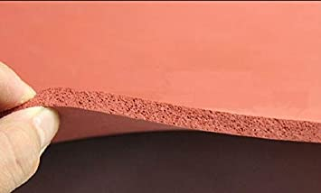 FidgetFidget Silicone Sponge Rubber Sheet Plate Pad 50x50cm(20x20) High Temp Heat Press 1mm