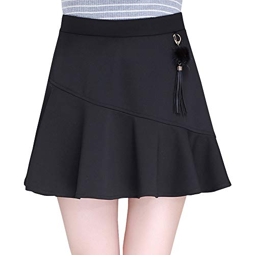 Ajoure Mini Valin Club Taille Coton Jupe Noir Grande FS9891 zWZnaZI