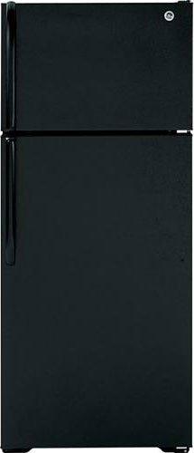 Ge Black Top Freezer Refrigerator - 8