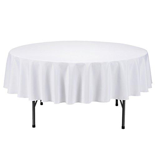 VEEYOO 70 inch Round Solid Polyester Tablecloth Wedding Restaurant Party Home, (Spring Potluck Themes)
