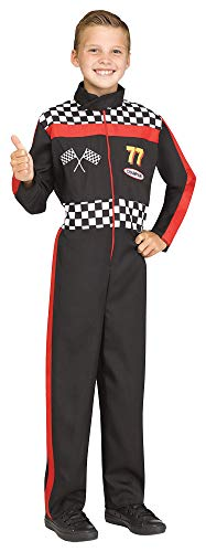Halloween Racing Suits (Boy's Race Car Driver Jumpsuit Funny Theme Party Child Halloween Costume, Child M)