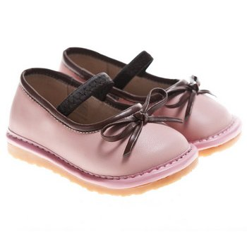 Image of Little Blue Lamb Squeaky Shoes, Girls, with Removable Squeaker, Wide Head (for Baby / Toddler / Kid)