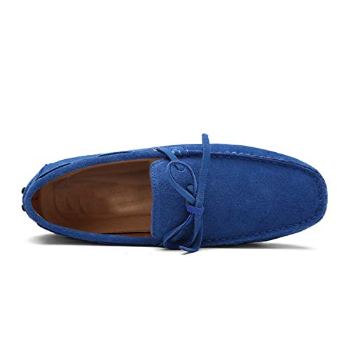 Appartements Daim Cuir Casual Conduite Marque De Haute Grande Chaussures En 2019 Nouveaux Hommes Taille Gray Qualité Mocassins Wqq1TUY